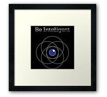 Be Intelligent Erudite Eye - White & Blue Framed Print