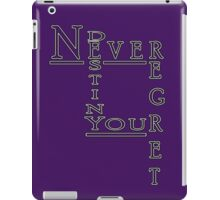 Never Regret iPad Case/Skin