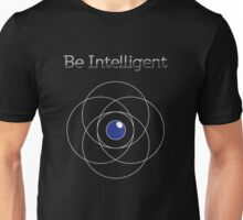Be Intelligent Erudite Eye - White & Blue Unisex T-Shirt