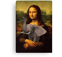 Mona Lisa With Elephant Canvas Print
