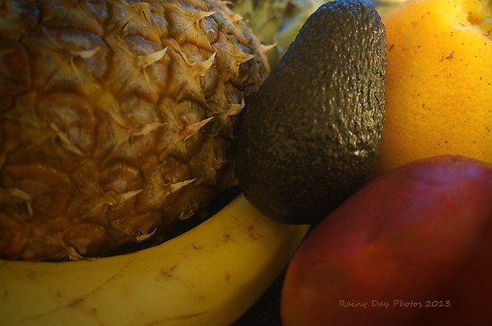 tropical fruit bowl by Rainydayphotos