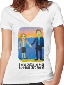 Jim and Pam's Wedding Gift Women's Fitted V-Neck T-Shirt