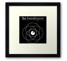 Be Intelligent Erudite Eye - White Framed Print