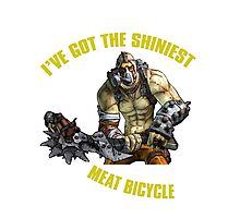 Meat Bicycle Photographic Print