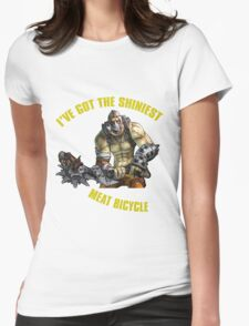 Meat Bicycle Womens Fitted T-Shirt