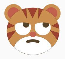 Tiger Emoji Thinking Hard and Hmm Look Kids Tee