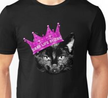 'Grab Life By The' Funny Cute Black Pussy Cat Kitten Design Unisex T-Shirt