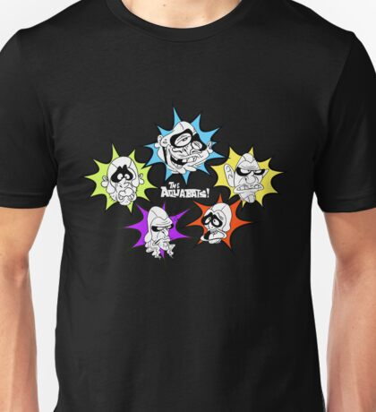 Aquabats! Awesome Forces! White Text! Unisex T-Shirt