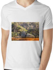 Tidal River Sunrise Mens V-Neck T-Shirt