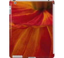 Orange Zinnia Flower Petals - Macro  iPad Case/Skin