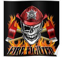 Fireman Skull 7 Poster