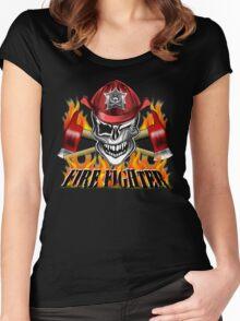 Fireman Skull 7 Women's Fitted Scoop T-Shirt