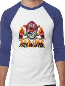 Fireman Skull 7 Men's Baseball ¾ T-Shirt
