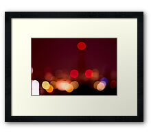 Abstract Bokeh Lights I Framed Print
