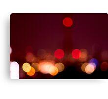 Abstract Bokeh Lights I Canvas Print