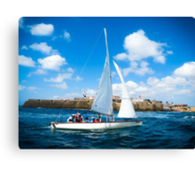 Sailing off Canvas Print