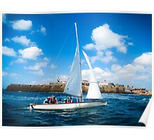 Sailing off Poster