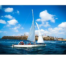 Sailing off Photographic Print
