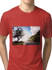 Out in the Serenity of nature Tri-blend T-Shirt