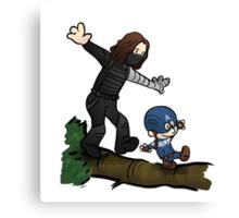 Steve and Bucky Canvas Print