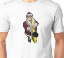 Santa Claus Playing Saxophone Unisex T-Shirt