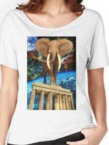 space elephant Women's Relaxed Fit T-Shirt