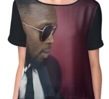 Awesome Guy with Sunglasses Chiffon Top