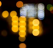 Abstract Bokeh Lights IV by Beverly Claire Kaiya