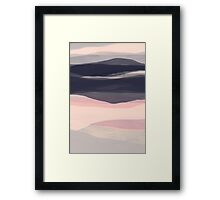 Hills and dales abstract landscape Framed Print