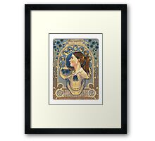 Molly Hooper Art Nouveau Framed Print
