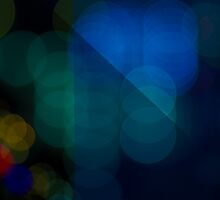 Abstract Bokeh Lights V by Beverly Claire Kaiya