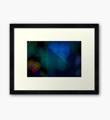 Abstract Bokeh Lights V Framed Print