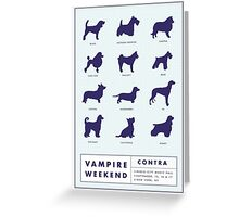 Vampire Weekend Contra Promotional Poster Greeting Card