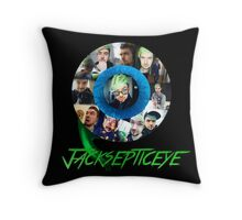 Jacksepticeye Collage (with Logo) Throw Pillow