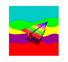 Paper Airplane 45 Art Print