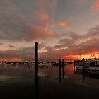 Scarborough Harbour Sunrise. Brisbane, Queensland, Australia. by Ralph de Zilva