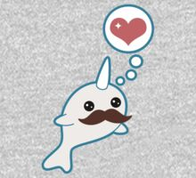 Cute Mustache Narwhal Kids Clothes