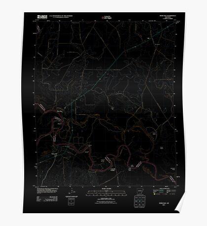 USGS TOPO Map Arkansas AR Moro Bay 20110726 TM Inverted Poster