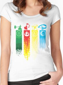 Avatar- Four Elements Women's Fitted Scoop T-Shirt