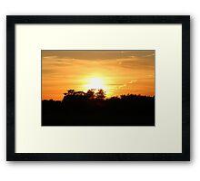 Wellington Sunset Framed Print
