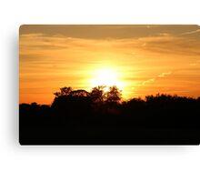Wellington Sunset Canvas Print