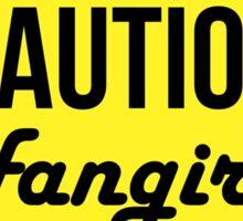Caution Tshirt Sticker