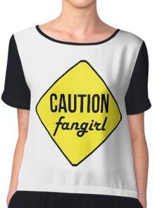 Caution Tshirt Chiffon Top