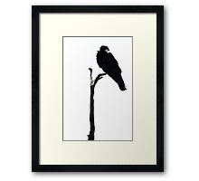 Punk Rock Raven Framed Print