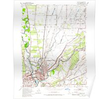 USGS TOPO Map California CA Yuba City 301476 1952 24000 geo Poster