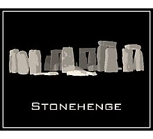 Stonehenge Travel Poster  Photographic Print