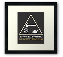 Exclusive Hamster, Jezza, and Captain Slow T-Shirt Framed Print