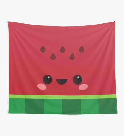 Wally the Kawaii Watermelon. So cute! Wall Tapestry