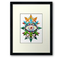 EVIL EYE WITH CHAOS STAR - spring Framed Print