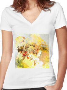 Paganini Theme Women's Fitted V-Neck T-Shirt